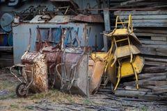 Singel-hjul cementvagn Royaltyfri Bild