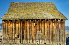 Singel old barn rotting in the sun Royalty Free Stock Photo