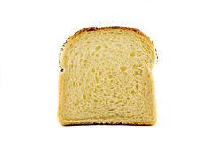 A singel slice of toast isolated Royalty Free Stock Image