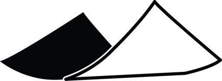 Singeln krullade vektorn för illustrationen för den pappers- symbolen för vecket itu den redigerbara i svart Stock Illustrationer