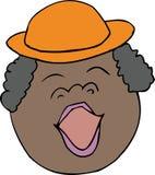 Singende glückliche Dame lizenzfreie abbildung