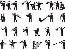 Singende Piktogrammleute Stockfotografie