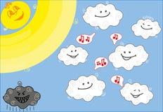 Singende Wolken Stockfotografie