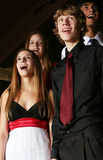 Singender Teenager Stockfoto
