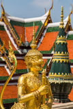 Singepanorn at the Grand Palace, Bangkok. At the Wat Phra Kaew of Bangkok, statues of mythical creatures from Himmapan forest are guarding the monumental Grand Royalty Free Stock Photo