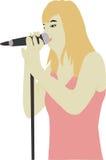 Singer. A illustration of a singer stock illustration