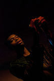 Singer. Tobias O'Kandi of O. Children band in concert in bucharest, romania on november 17 Stock Images