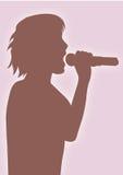 Singer. A illustration of a singer's silhouette vector illustration