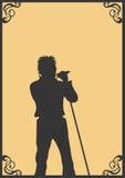 Singer. A illustration of a singer vector illustration