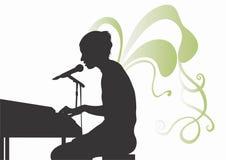 Singer. Illustration of a singer Stock Images