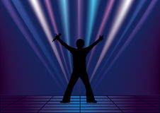 Singer. This image is a vector illustration and can be scaled to any size without loss of resolution. This image will download as a .eps file. You will need a Stock Photos