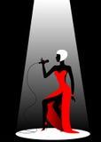 Singer. The beautiful singer on a scene Vector Illustration