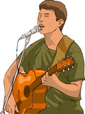 Singer. This high resolution illustration includes a clipping path for easy isolation and editing of the main object royalty free illustration