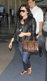 Singer actress Demi Lovato at LAX airport. LOS ANGELES-APRIL 23: Singer actress Demi Lovato at LAX airport. April 23 in Los Angeles, California 2011 Stock Image