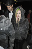 Singer Avril Lavigne and Brody jenner at LAX Stock Photography