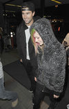 Singer Avril Lavigne and Brody jenner at LAX Stock Images