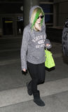 Singer Avril Lavigne at LAX airport,CA USA. LOS ANGELES-MAY 14: Singer Avril Lavigne at LAX airport. May 14 in Los Angeles, California 2010 Stock Photo