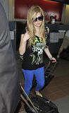Singer Avril Lavigne is seen at LAX Stock Images