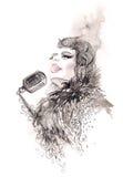 Singer vector illustration