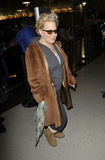 Singer Bette Midler at LAX airport, CA Stock Image
