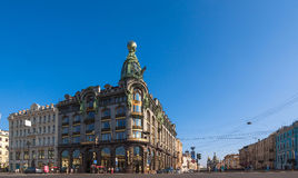 Singer building (st. Petersburg) Stock Image