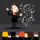 Singer Cartoon. Stock Images