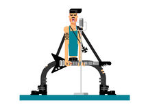 Singer character flat illustration Royalty Free Stock Image