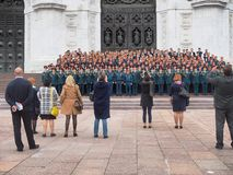Singer Choir of Emergency Depatment. Moscow, Russia - September, 17, 2017: Singer Choir of Emergency Depatment. Concert at Cathedral of Christ the Savior Stock Images