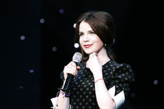 Singer Christina Soloviy. Photo taken in the opera house of Maria Kurshelnytskoyi in Lviv Royalty Free Stock Photography
