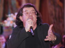 The singer and composer Igor Kornelyuk - statement on the club scene Talion Stock Images