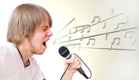 Singer conceptual image. Stock Image