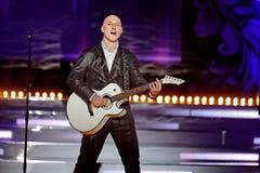 Singer Denis Maidanov in music program on stage Stock Photos