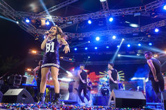 Singer Despina Vandi performing at MAD North Stage festival Stock Images