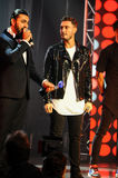 Singer Faydee accepting award on stage during the Big Apple Music Awards 2016 Concert Stock Photos