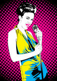 Singer female Royalty Free Stock Photography