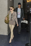 Singer Fergie & husband Josh Duhamel at LAX,CA USA Stock Photos