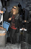 Singer Fergie is seen at LAX airport Royalty Free Stock Image
