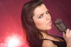 Singer girl Stock Image