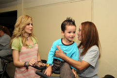 Singer gloria tevi with inmate and her son Royalty Free Stock Photos