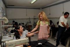 Singer gloria trevi and inmate seamstress Stock Image