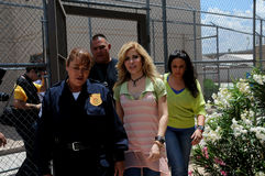 Singer Gloria Trevi walks inside prison Stock Images