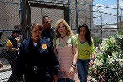 Singer Gloria Trevi walks inside prison Stock Images