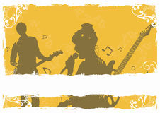 Singer and guitarist. Illustration of a singer and a guitarist Royalty Free Stock Photography