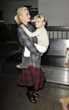 Singer Gwen Stefani & son kIngston LAX airport,CA Stock Photography