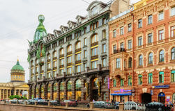 Singer House on the embankment of Griboyedov Canal Stock Photos