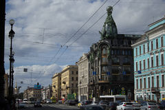 Singer House. On Nevsky Prospekt, St. Petersburg Royalty Free Stock Image