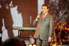 Singer Iosif Kobzon performs on stage Stock Photo