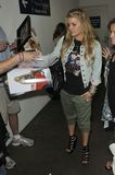 Singer Jessica Simpson is seen at LAX Stock Photography