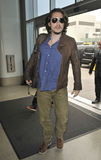 Singer John Mayer is seen at LAX airport Stock Image