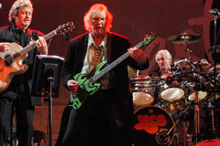 The singer Jon Anderson and bassist Cris Square of Yes group Royalty Free Stock Photo